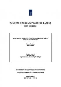 Working hours and inequality - TamPub