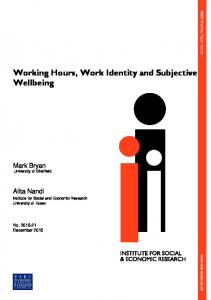 Working Hours, Work Identity and Subjective Wellbeing
