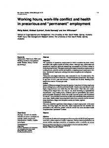 Working hours, work-life conflict and health in ... - Semantic Scholar