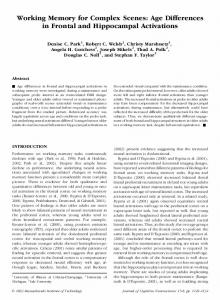 Working Memory for Complex Scenes: Age Differences in ... - CiteSeerX