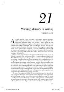 Working Memory in Writing
