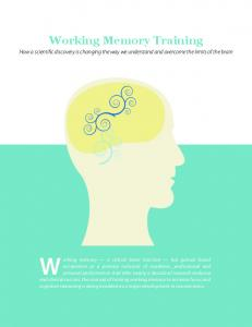 Working Memory Training - Cogmed