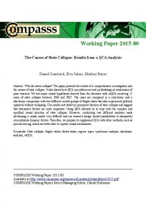 Working Paper 2015-80 - COMPASSS