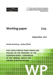 Working paper 224. - Core