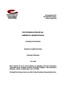 Working Paper 96-02 The Retail Food Industry ... - AgEcon Search