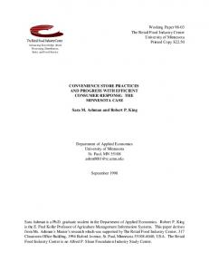 Working Paper 98-03 The Retail Food Industry ... - AgEcon Search