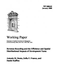 Working Paper - AgEcon Search