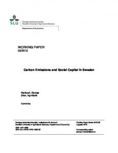 WORKING PAPER Carbon Emissions and Social Capital in Sweden