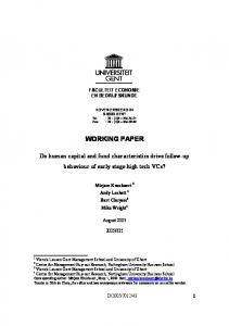 WORKING PAPER Do human capital and fund