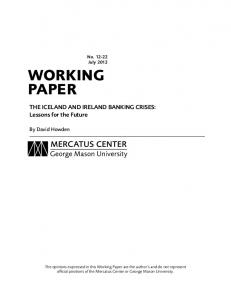 working paper - Mercatus Center