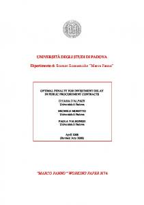 WORKING PAPER N.74 - economia.unipd.it