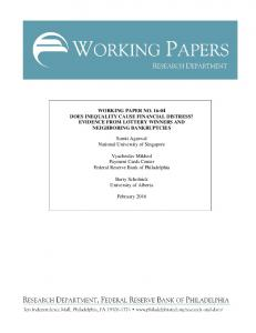 WORKING PAPER NO. 16-04 DOES INEQUALITY ...