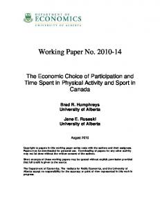 Working Paper No. 2010-14 - Core