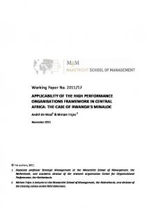 Working Paper No. 2011/17 APPLICABILITY OF THE HIGH ...
