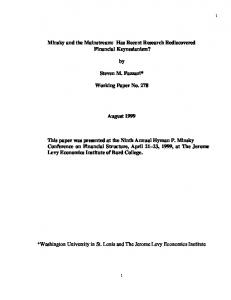Working Paper No. 278 - Levy Economics Institute of Bard College
