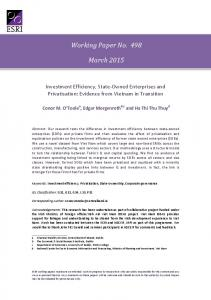 Working Paper No. 498 March 2015 - Core
