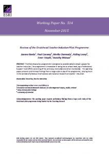 Working Paper No. 514 November 2015 - The Economic and Social ...