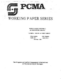 working paper series - CiteSeerX