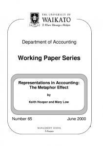Working Paper Series - Core
