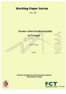 Working Paper Series - NIMA - Universidade do Minho