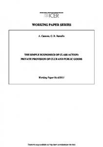 working paper series - SSRN papers