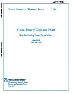 Working Paper - World bank documents - World Bank Group