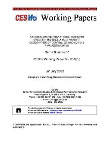 Working Papers - SSRN papers