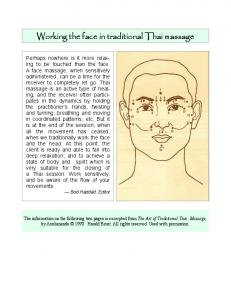 Working the Face in Traditional Thai massage - Thai Healing ...