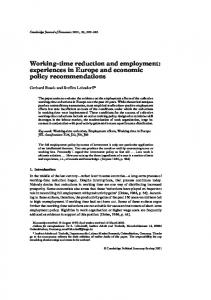 Working-time reduction and employment - Oxford Journals