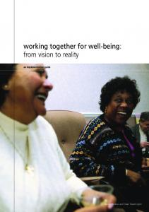 working together for well-being: from vision to reality