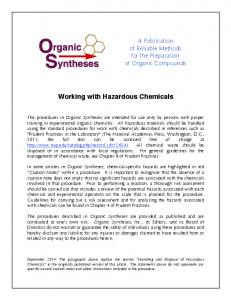 Working with Hazardous Chemicals - Organic Syntheses