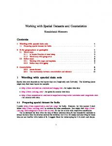 Working with Spatial Datasets and Geostatistics