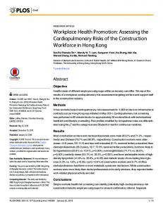 Workplace Health Promotion: Assessing the ... - Semantic Scholar