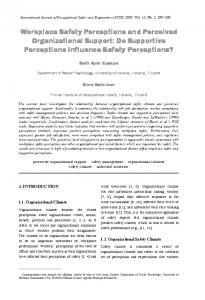 Workplace Safety Perceptions and Perceived ... - Semantic Scholar