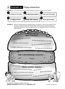 Worksheet 2a Using connectives - ESL - French