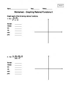worksheet graphing rational functions 2 aledoprecal - Graphing Rational Functions Worksheet