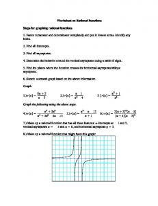 worksheet on rational functions steps for graphing rational - Graphing Rational Functions Worksheet