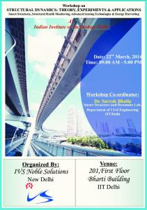 WORKSHOP ON STRUCTURAL DYNAMICS - Indian Institute of ...