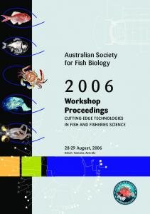 Workshop Proceedings - Australian Society For Fish Biology