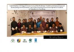 Workshop Report - National Biodiversity Centre, Bhutan