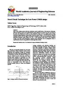 World Academics Journal of Engineering Sciences - Resolve a DOI