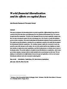 World financial liberalization and its effects on capital flows - RePEc