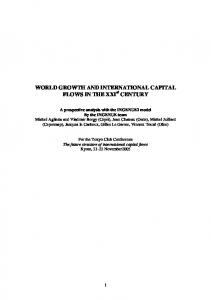 world growth and international capital flows in the xxi century