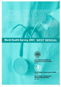 World Health Survey, 2003 WEST BENGAL