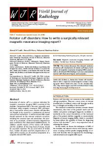 World Journal of Radiology - F6Publishing