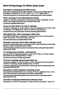 World Of Psychology 7th Edition Study Guide