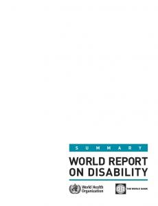 World Report on Disability - Service Temporarily Down - World Health ...