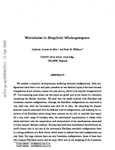 Wormholes in Simplicial Minisuperspace