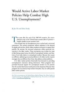 Would Active Labor Market Policies Help Combat High U.S. ...