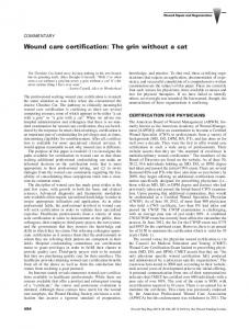 Wound care certification: The grin without a cat - Wiley Online Library